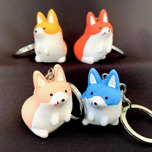 Load image into Gallery viewer, 120054 CORGI CHARM with keyring-YELLOW-1 piece