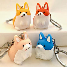 Load image into Gallery viewer, 120055 CORGI CHARM with keyring-PASTEL PINK-1 piece