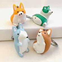 Load image into Gallery viewer, 120064 CORGI CHARM with keyring-PASTEL BEIGE-1 piece