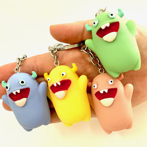 120072 MONSTER CHARM with keyring-PINK-1 piece