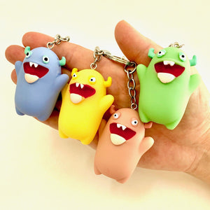 120073 MONSTER CHARM with keyring-BLUE-1 piece