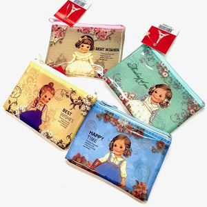 100641 CLASSIC DOLL COIN PURSE in 4 colors-4 PURSES