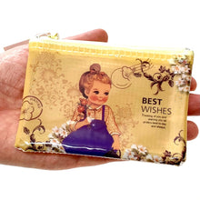 Load image into Gallery viewer, 100645 CLASSIC DOLL COIN PURSE-BLUE DRESS-1 COIN PURSE