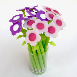 223793 FLOWER GEL PEN-PURPLE-1 PEN