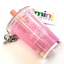 Load image into Gallery viewer, 120422 Fruit Boba Drink Keychain-Strawberry-1 piece