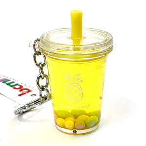 120423 Fruit Boba Drink Keychain-Pineapple-1 piece