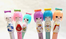 Load image into Gallery viewer, 221793 KOKESHI DOLL GEL PEN-PINK-1 pen