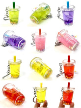 Load image into Gallery viewer, 120423 Fruit Boba Drink Keychain-Pineapple-1 piece