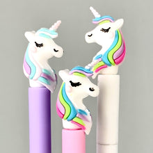 Load image into Gallery viewer, 222362 RAINBOW UNICORN GEL PEN-3 assorted pens