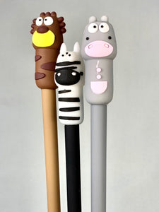 222134 ZOO ANIMALS GEL PEN-BROWN-1 PEN