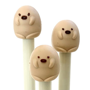 222044 Kawaii Animal Gel Pen-Brown Dog-1 Pen