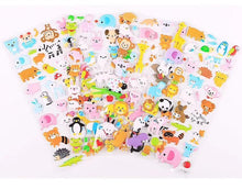 Load image into Gallery viewer, 101221 ANIMAL PUFFY STICKERS-4 assorted sheets