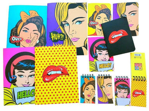 410581 POP ART NOTE BOOK-4 notebooks