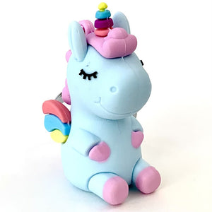 120135 Unicorn with wings keychain-Blue-1 piece