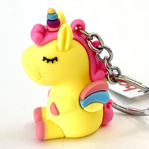 120136 Unicorn with wings keychain-Yellow-1 piece