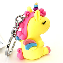 Load image into Gallery viewer, 120136 Unicorn with wings keychain-Yellow-1 piece