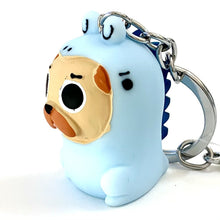 Load image into Gallery viewer, 120083 DINO DOG CHARM with keyring-BLUE-1 piece