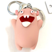 Load image into Gallery viewer, 120072 MONSTER CHARM with keyring-PINK-1 piece