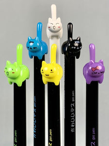 221881 Cat Tail Gel Pen-6 assorted pens