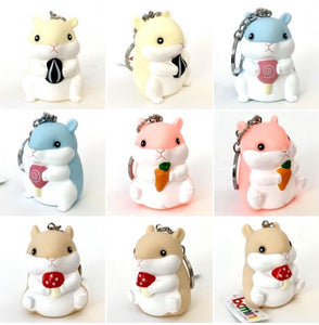 120174 BIG HAMSTER CHARM-BLUE-1 piece