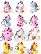 Load image into Gallery viewer, 120135 Unicorn with wings keychain-Blue-1 piece