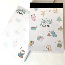 Load image into Gallery viewer, 412721 Juicy Camp Cheers Dinosaurs Mini Notepad Kamio-1 Notepad