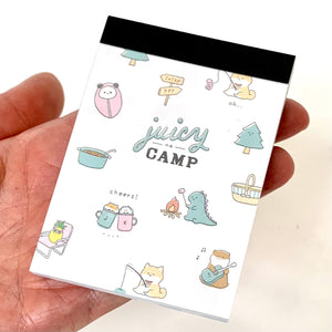 412721 Juicy Camp Cheers Dinosaurs Mini Notepad Kamio-1 Notepad