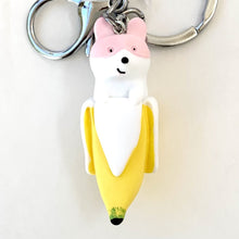 Load image into Gallery viewer, 120092 BANANA DOG CHARM with keyring-PINK-1 piece