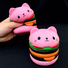 Load image into Gallery viewer, 831841 HAMBURGER CAT SQUISHY-slow soft-4 inch-1 piece