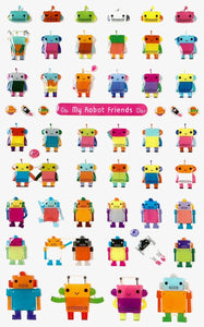 301231 MY ROBOT FRIENDS-GEL STICKER-1 sheet