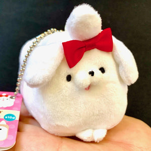 63050 CUBE DOG Mini Plush Key Chain-10 assorted colors