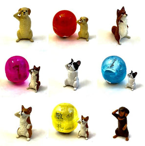 70800 SALUTING DOGS CAPSULE-5 assorted pieces