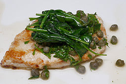 Chicken Piccata with Spinach