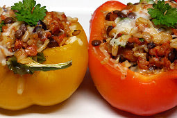 Sausage and Lentil Stuffed Peppers