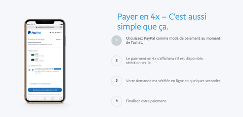 payement 4 fois paypal