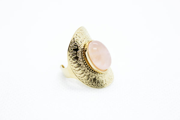 Bague Cleef Quartz rose Mÿmÿ Bijoux Paris ™