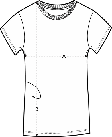 those one liners women's t-shirt size chart