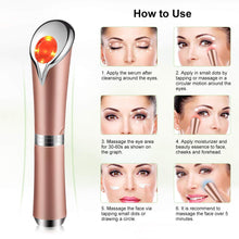 Load image into Gallery viewer, High Frequency Under Eye Massager Wand - Rose Gold
