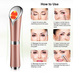 High Frequency Under Eye Massager Wand - Rose Gold