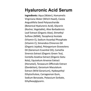 Hyaluronic Serum with Vitamin C - 2 oz