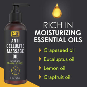 Cellulite Reducing Massage Oil Infused with Collagen