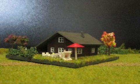 4102 - Blockhaus mit Carport - Bausatz / blockhouse with carport