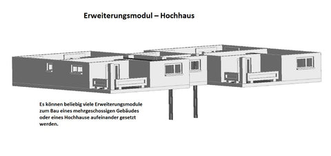 4105 – Erweiterungsmodul Hochhaus - Bausatz /  expansion module for high-rise building