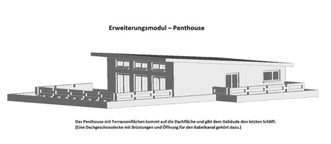 4106 – Erweiterungsmodul-Penthouse - Bausatz / expansion module for penthouse