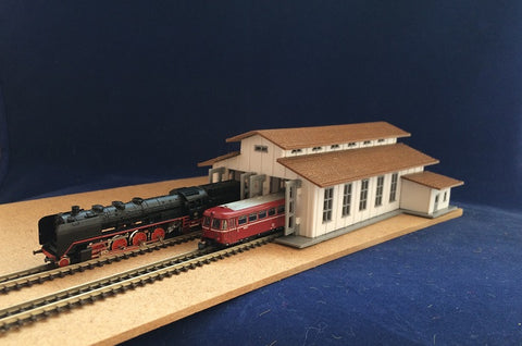 4111 - Lokschuppen, Spur Z / Engine shed, scale Z