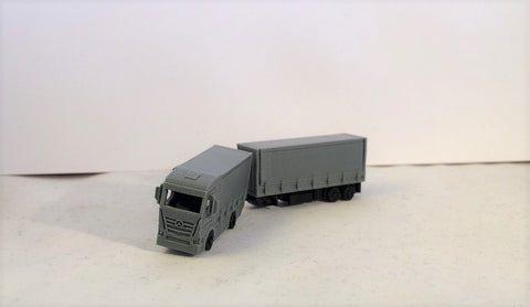 6340 - Actros 4 x 2 Gliederzug mit Plane, Spur Z / Actros 4 x 2 articulated train, scale Z