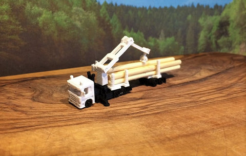 6905A - Langholzsattelzug mit Scania 6 x 4 Zugmaschine / log tuck with Scania 6 x 4