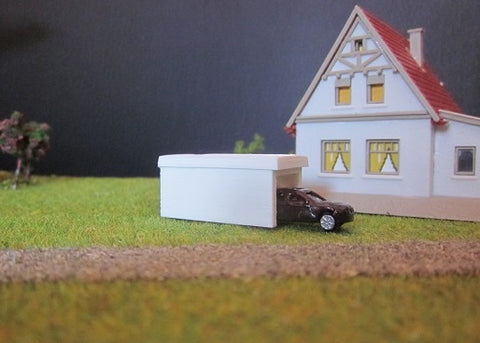 4010 - Einzelgarage, Spur Z / single garage with flat roof