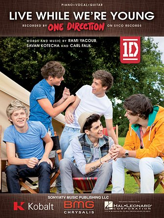 Live While We're Young One Direction Piano/Vocal/Guitar