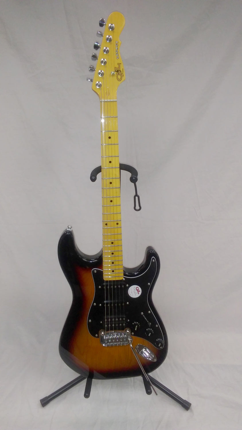 G&L Tribute Legacy HSS Electric Guitar Sunburst with Maple Fretboard
